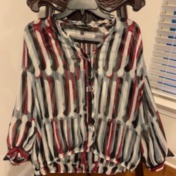 Cynthia Steffe Tops - Cynthia Steefe flouncy striped blouse